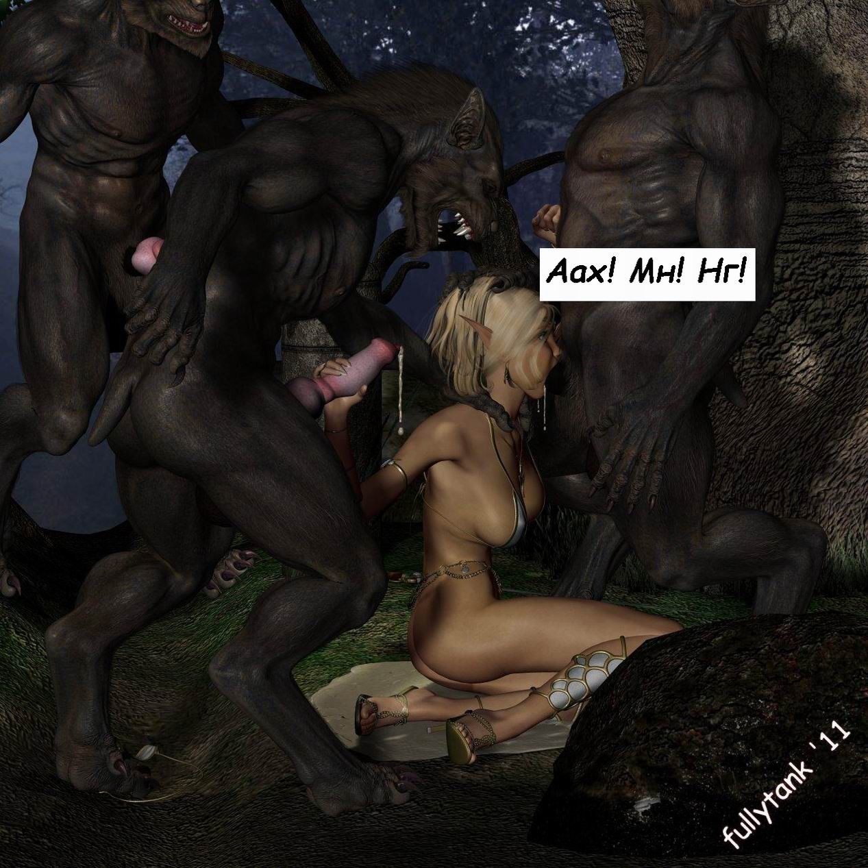 Hot werewolf girl fucks a guy hentia  hentai thumbs